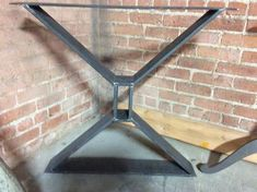Metal Table Base, Table Legs, X table base, Modern, Industrial dining table, Made to custom sizes