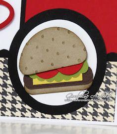 Hamburger Business Invitation, Invitations, Diy Scrapbook, Scrapbooking, Punch Art, Hamburger, Stampin Up, Card Ideas, Crafty