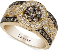 Le Vian Chocolatier® Framed Cluster Diamond Ring (1-1/4 ct. t.w.) in 14k Gold