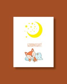 Fox Nursery Art Print  Baby Fox Dream Good by HappyLittleBeans