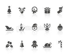 Christmas Icons | Simple Black Series Royalty Free Stock Vector Art Illustration