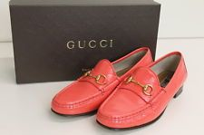 authentic GUCCI womens patent leather horsebit loafers 1953 Collection SZ 38 This color is sold out in most sizes!!!