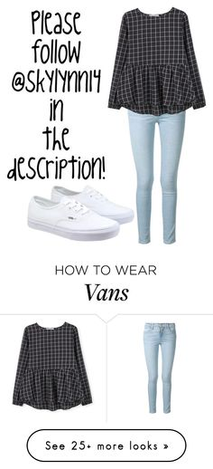 """""""In the description!!!!"""" by hcs72902 on Polyvore featuring Frame Denim, MANGO, Vans, women's clothing, women's fashion, women, female, woman, misses and juniors"""