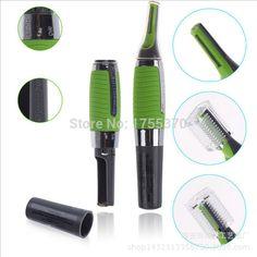 De Acero inoxidable Ear Nose Face Hair Trimmer Clipper máquina de Afeitar Con Luz LED Para Hombres Y Mujeres Cuidado de La Salud Personal