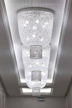 AL RUFAA CELEBRATION HALL COMPLEX   Sans Souci ... decorative light fixtures of Czech crystal beads adorn all wedding halls´ corridors. Crystal Light Fixture, Light Fixtures, Wedding Halls, Crystal Beads, Crystals, Cut Glass, Light Decorations, Celebration, Chandelier