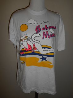 Vintage  Bahama Mama tee t shirt  80s 90s   by ATELIERVINTAGESHOP