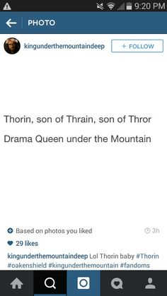 Fili, Kili, which one of you wrote this? <- I'd say Dwalin said it, the boys wrote it #Hobbit #Thorin