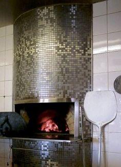 Mosaic Tile Fireplace, Fireplace Tile Surround, Stove Fireplace, Fireplace Surrounds, Wood Burning Oven, Wood Fired Oven, Wood Fired Pizza, Metal Roof, Metal Walls