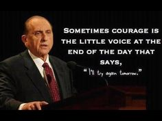Courage: this is actually uplifting.