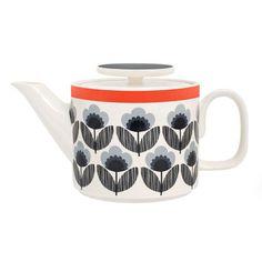 Orla Kiely teapot - fabulous design.