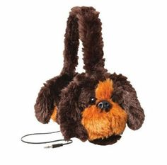 Retrak Kids Safe Sounds Headphones Retractable Cord Volume Limiting Brown Dog #RetrakAnimalz