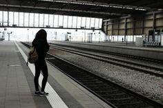 Image via We Heart It #black #girl #grunge #trainstation
