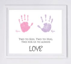 Twins/Siblings Love - Created from your Child's actual prints! Find out more at www.myforeverprints.com
