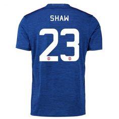 Manchester United 16-17 Luke Shaw 23 Borte Drakt Kortermet #Billige #Fotballdrakter