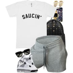 A fashion look from August 2016 featuring MCM backpacks, Casio watches and Yves Saint Laurent sunglasses. Browse and shop related looks.