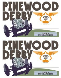free pinewood derby participation certificates retro design - Pinewood Derby Certificate Templates