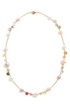 Risultati immagini per designer pearl and gemstone necklace Pearl Jewelry, Gold Jewelry, Beaded Jewelry, Jewelry Accessories, Jewelry Design, Gemstone Necklace, Beaded Necklace, Beaded Bracelets, Collier Simple