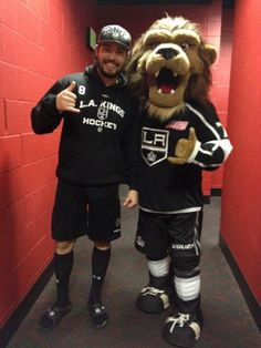 Me and my boy Drew just celebrating the win. I love the @LA Kings
