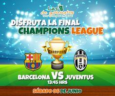 La final de la Champions League está en nuestras pantallas. #ForzaJuve #Barcelona #Fútbol #Final