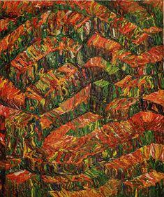 Levels / Maarit Korhonen, acrylic, canvas, 55cm x 46cm Dark Paintings, Original Paintings, Online Painting, Artwork Online, Dancer In The Dark, Tree People, Autumn Painting, Original Art For Sale, Acrylic Canvas