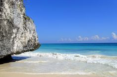 beach at the ruins of Tulum, Mexico