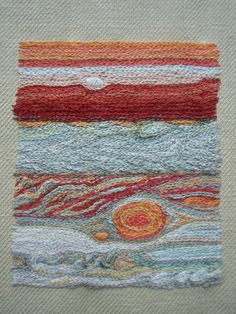 Tumblr user pardalote produced this handsomely chain stitched image of Jupiter based on photos from NASA.