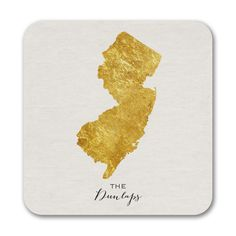 Bright State - Coasters - New Jersey. Available at Persnickety Invitation Studio.