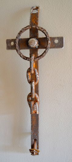 Forever Free farm scrap iron cross by cathypartain36 on Etsy, $134.00