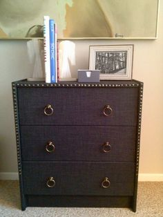 Ikea Hackers fabric wrapped dresser