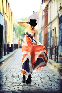 #allure stylée # british style #British Flag-love the dress