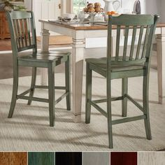 Shop for Eleanor Slat Back Wood 24 in. Counter Chair (Set of 2) by iNSPIRE Q Classic. Get free shipping at Overstock - Your Online Furniture Outlet Store! Get 5% in rewards with Club O! - 23297902
