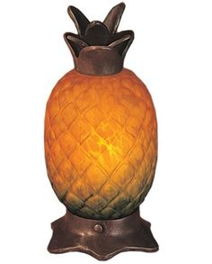 "Meyda Tiffany 12398 Welcome Pineapple - 7"" Accent Lamp, Mahogany Bronze Finish by Meyda. Save 42 Off!. $50.00. Meyda Tiffany 12398 Pineapple  Meyda Tiffany 12398 Pineapple  Every Meyda Tiffany item is a unique, handcrafted work of art. Natural variation in the glass and finish make each and every one a masterpiece all its own. Photographs are a general representation of the product. Colors will vary."