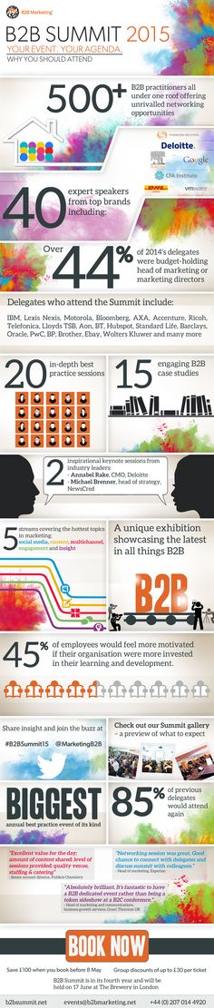 B2B Summit, why attend, infographic
