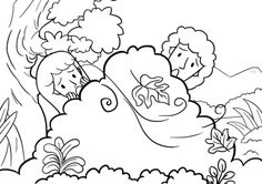 Adam and Eve Hid from the Lord God Among the Trees of the Garden coloring page from Adam and Eve category. Select from 26307 printable crafts of cartoons, nature, animals, Bible and many more.