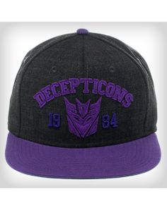 Transformers Decepticon Glow Logo 59FIFTY Hat  ff728f92b33