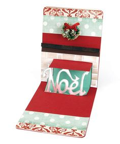 Take a look at this Karen Burniston 'Noel' Pop 'n' Cuts Magnetic Insert Die by Sizzix on #zulily today!