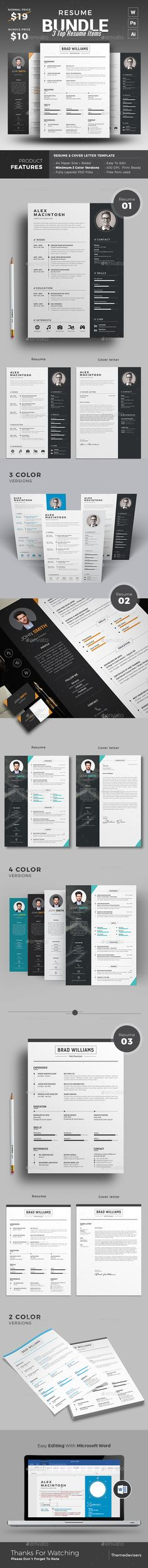 Awesome Resume Bundle, Save more than 50% Today. Only available at https://graphicriver.net/item/resume/17989391?ref=themedevisers