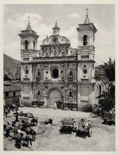 1931 Iglesia Los Dolores Church Tegucigalpa Honduras - ORIGINAL PHOTOGRAVURE SA2 - Period Paper