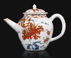 A rare Chelsea Kakiemon teapot and cover, circa 1750-53 | Lot | Sotheby's