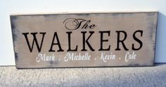 last name decorations | Name Sign Shabby Chic Distressed Wood Last Name Sign Home Decor ...