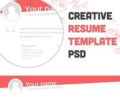 here are some best collection of free psd resume templates cv psd templates free professional resume templates and free creative resume template psd - Free Job Resume Template