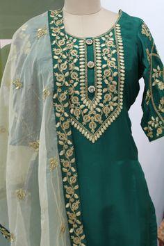 Designer embroidered suit on opada silk only on wedding vows- An attire affair. Wedding Vows, Affair, Sari, Tunic Tops, Suits, Design, Women, Fashion, Saree