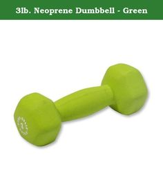 3lb. Neoprene Dumbbell - Green. Today, modern exerscience and industry-current manufacturing processes make it possible for you to achieve results in the comfort and convenience of your own home that were once only possible at a professionally outfitted gym. Body-Solid Neoprene Dumbbells can be used on their own for a variety of lifting, curling, pressing and stretching exercises, or you can incorporate them into your current regimen of jogging and power walking, aerobics, general…