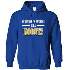 Of Course Im Awesome Im a KOONTZ - #pretty shirt #off the shoulder sweatshirt. GUARANTEE  => https://www.sunfrog.com/Names/Of-Course-Im-Awesome-Im-a-KOONTZ-rspeasjbql-RoyalBlue-11837193-Hoodie.html?id=60505
