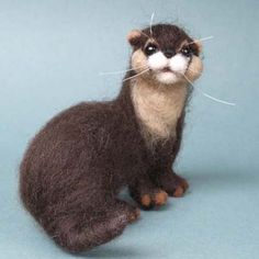 Tarka the Needlefelted Otter