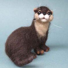 Tarka the Needlefelted Otter
