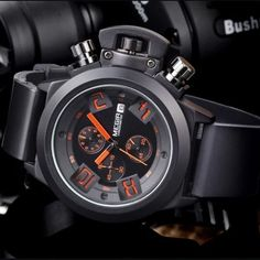 The Crown military chronograph watch features a stainless steel case and a scratch-resistant hardlex crystal. Affordable watches on BringWish. Buy Now! Fitness Watches For Women, Best Watches For Men, Mens Sport Watches, Cool Watches, Rolex Submariner, Omega Seamaster, Audemars Piguet, Beautiful Watches, Seiko Watches