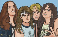 83 by on DeviantArt Classic Cartoon Characters, Classic Cartoons, Heavy Metal Music, Heavy Metal Bands, Rock Y Metal, Metal Art, Metal Drawing, Metallica Art, Make Mine Music