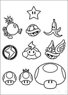 Mario Bross Tegninger til Farvelægning. Printbare Farvelægning for børn. Tegninger til udskriv og farve nº 17