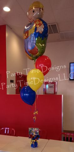 TABLE CENTREPIECE BOB THE BUILDER NO HELIUM NEEDED FOIL BALLOON DISPLAY
